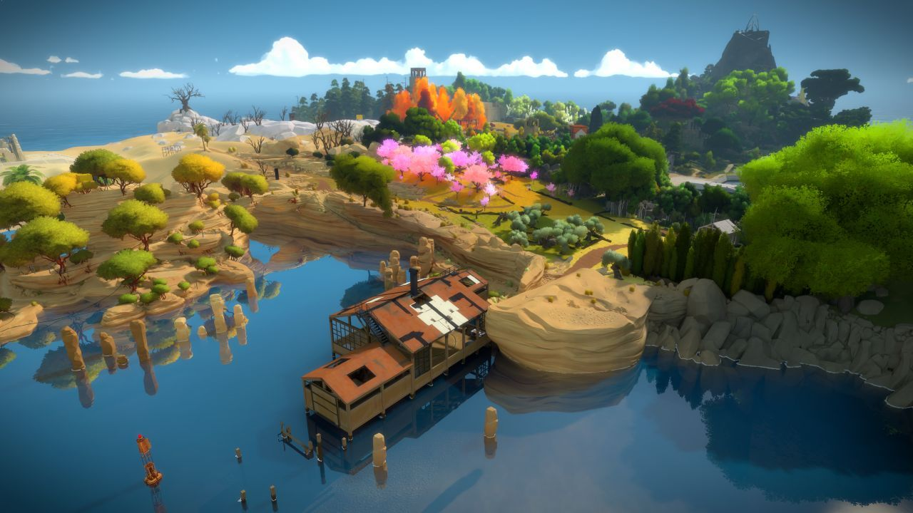 <b> 7. The Witness </b> <br /> <br /> The Witness is an unrivaled-puzzler with a power and pull that carried us through its wonderful journey.