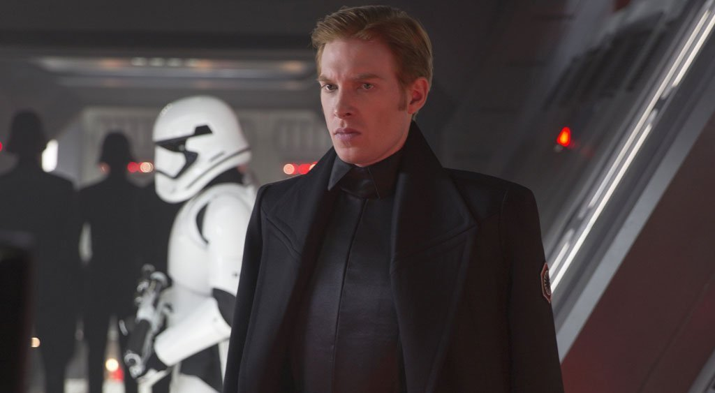 General Hux: Like Kylo Ren, Hux answers to Snoke, but he doesn't get to be as interesting as the Jedi Killer. He's just there to be a military guy, and he's the one who used the Starkiller Base to blow up Hosnian Prime in TFA. While Starkiller Base was destroyed in that film, Hux survived... because somebody has to do the day-to-day work of jackbooted thuggery.